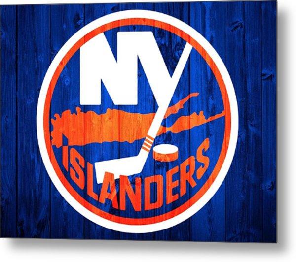 New York Islanders Barn Door Metal Print