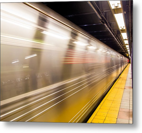 New York Metropolitan Underground Transportation Metal Print