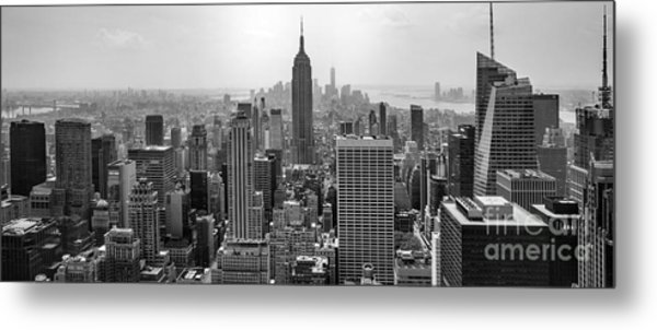 New York Moody Skyline  Metal Print