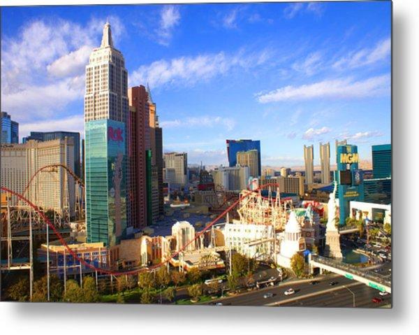 New York New York Las Vegas Nevada Metal Print