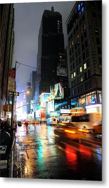 New York Night Metal Print by Stephen Richards
