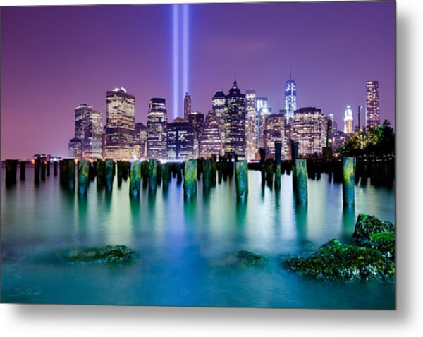New York Pier Tribute Metal Print