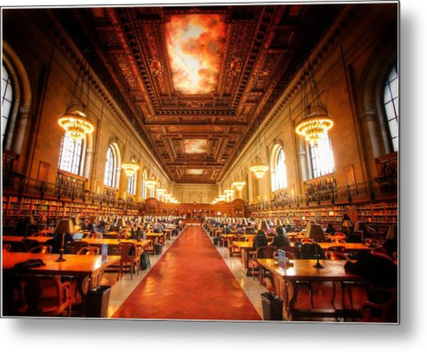 New York Public Library Four Metal Print