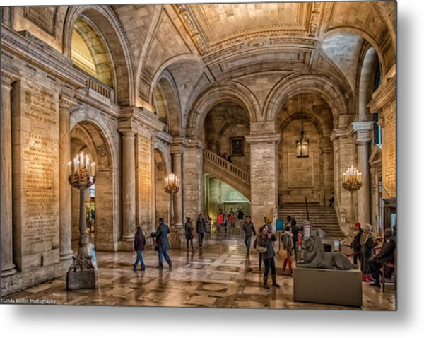 New York Public Library In New York City Metal Print