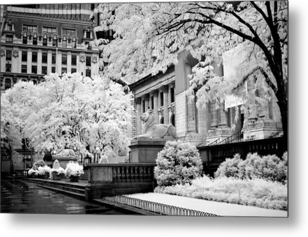 New York Public Library Ir Metal Print