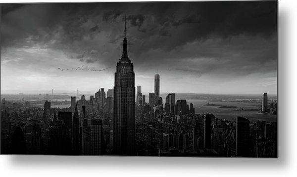 New York Rockefeller View Metal Print