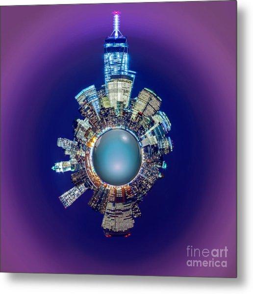 New York Skyline Circagraph Metal Print