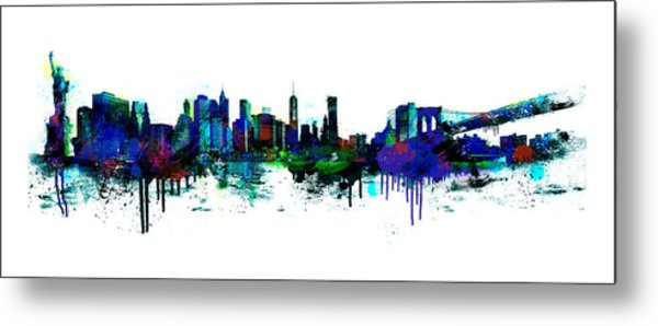New York Spray Metal Print