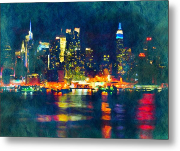 New York State Of Mind Abstract Realism Metal Print
