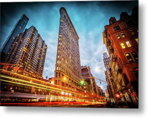 New York State Of Mind Metal Print by Marc Perrella