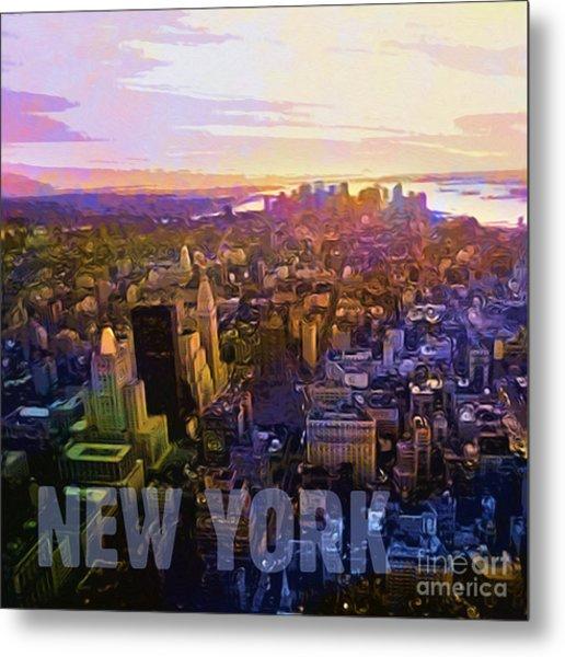 New York Sunset Metal Print by Lutz Baar