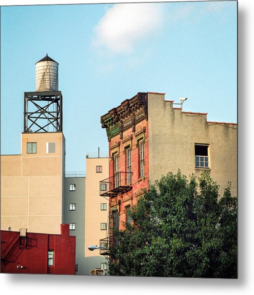Metal Print featuring the photograph New York Water Tower 3 by Gary Heller