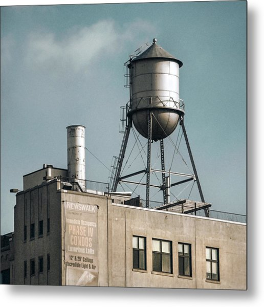 Metal Print featuring the photograph New York Water Towers 10 by Gary Heller