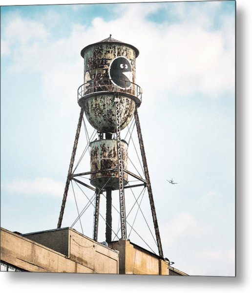 Metal Print featuring the photograph New York Water Towers 9 - Bed Stuy Brooklyn by Gary Heller