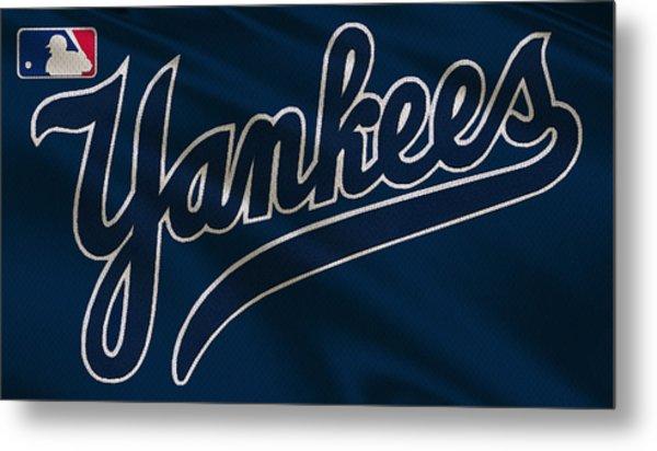 New York Yankees Uniform Metal Print
