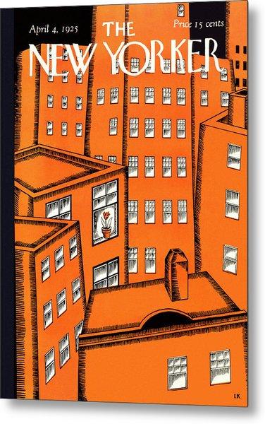 New Yorker April 4 1925 Metal Print by Ilonka Karasz