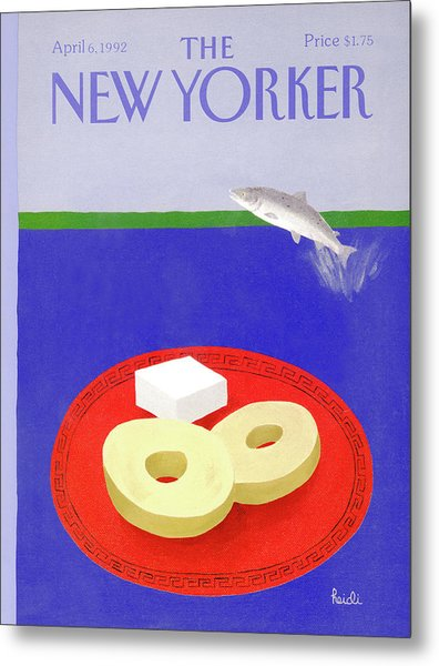 New Yorker April 6th, 1992 Metal Print