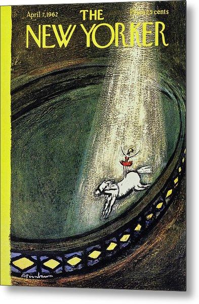 New Yorker April 7th 1962 Metal Print by Aaron Birnbaum