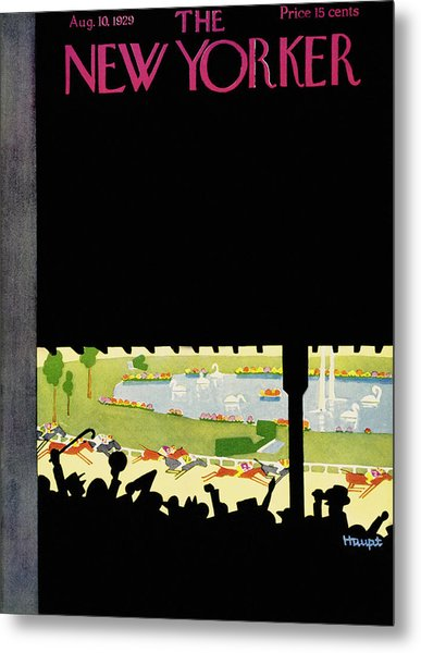 New Yorker August 10 1929 Metal Print by Theodore G. Haupt