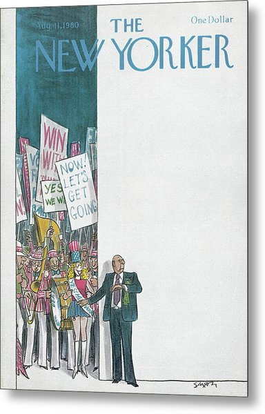 New Yorker August 11th, 1980 Metal Print