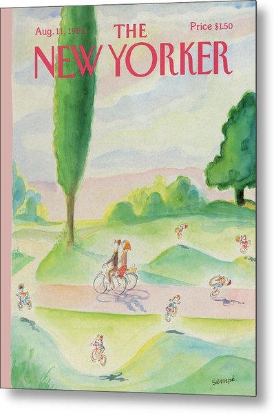 New Yorker August 11th, 1986 Metal Print