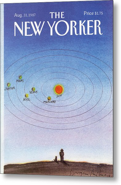 New Yorker August 31st, 1987 Metal Print