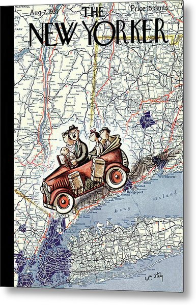 New Yorker August 7th, 1937 Metal Print