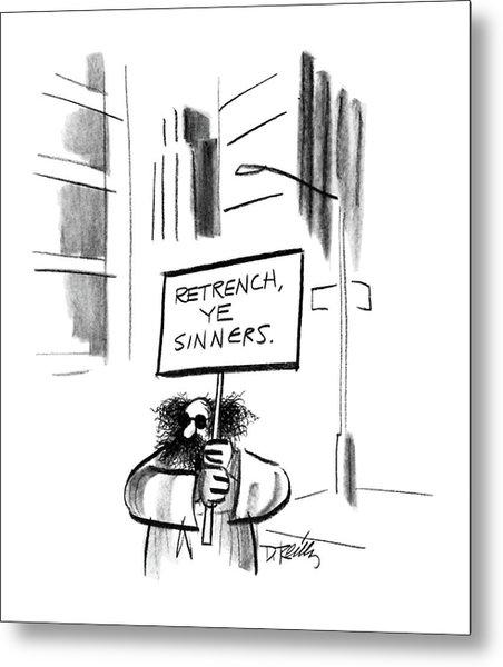 New Yorker December 14th, 1987 Metal Print