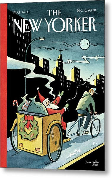 New Yorker December 15, 2008 Metal Print