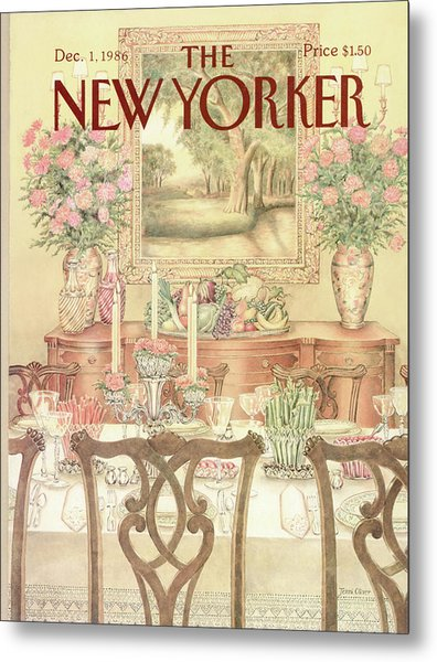 New Yorker December 1st, 1986 Metal Print