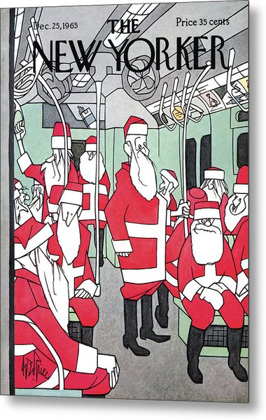 New Yorker December 25th, 1965 Metal Print