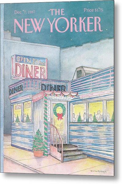 New Yorker December 7th, 1987 Metal Print