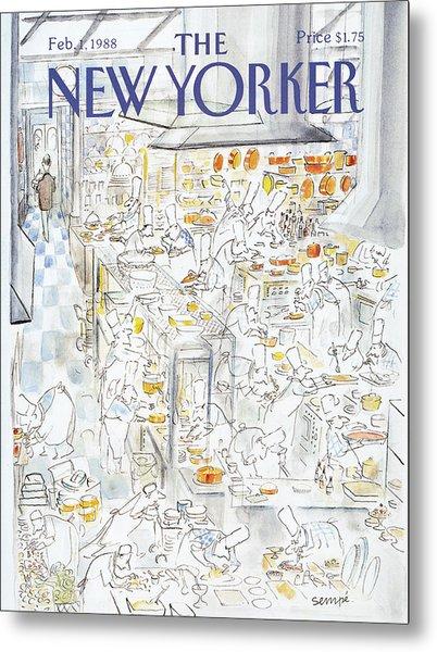 New Yorker February 1st, 1988 Metal Print