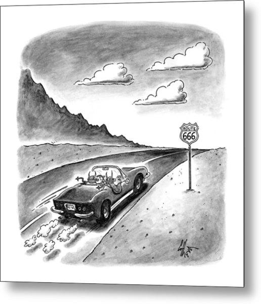 New Yorker February 23rd, 1998 Metal Print