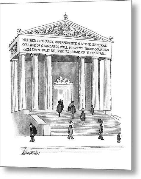 New Yorker January 26th, 1976 Metal Print