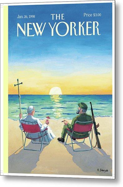 New Yorker January 26th, 1998 Metal Print