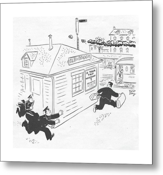 New Yorker January 29th, 1944 Metal Print by Robert J. Day