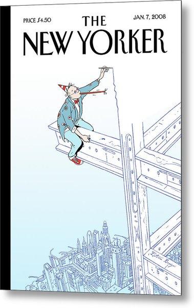 New Yorker January 7th, 2008 Metal Print