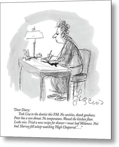 New Yorker January 9th, 1971 Metal Print