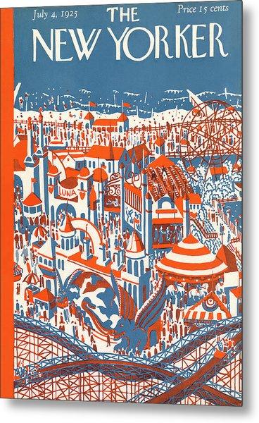 New Yorker July 4th, 1925 Metal Print