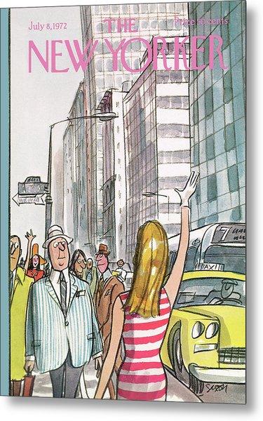 New Yorker July 8th, 1972 Metal Print
