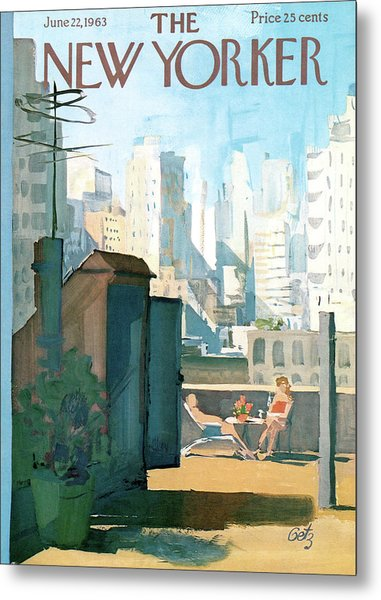 New Yorker June 22nd, 1963 Metal Print
