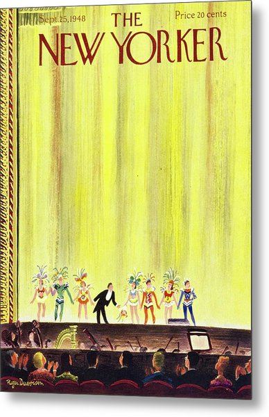 New Yorker Magazine Cover Of A Curtain Call Metal Print