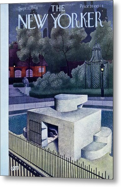New Yorker Magazine Cover Of A Seal Enclosure Metal Print