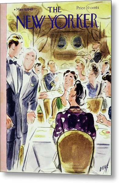 New Yorker Magazine Cover Of People Metal Print