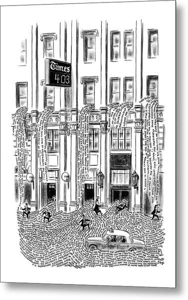 New Yorker March 29th, 1969 Metal Print