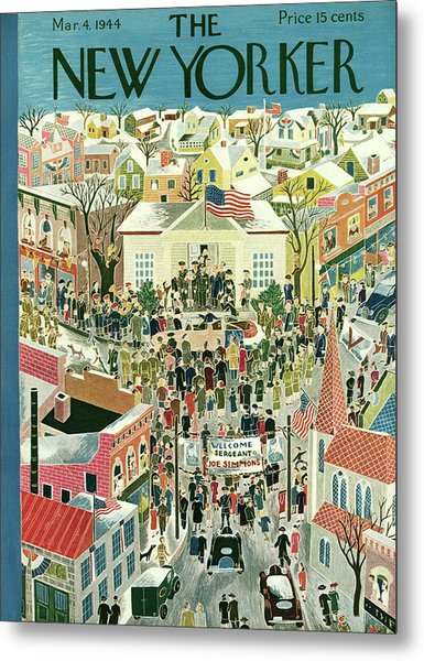New Yorker March 4th, 1944 Metal Print
