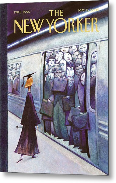New Yorker May 16th, 2005 Metal Print