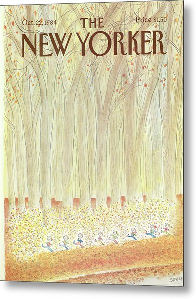 New Yorker October 22nd, 1984 Metal Print