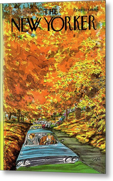 New Yorker October 7th, 1974 Metal Print